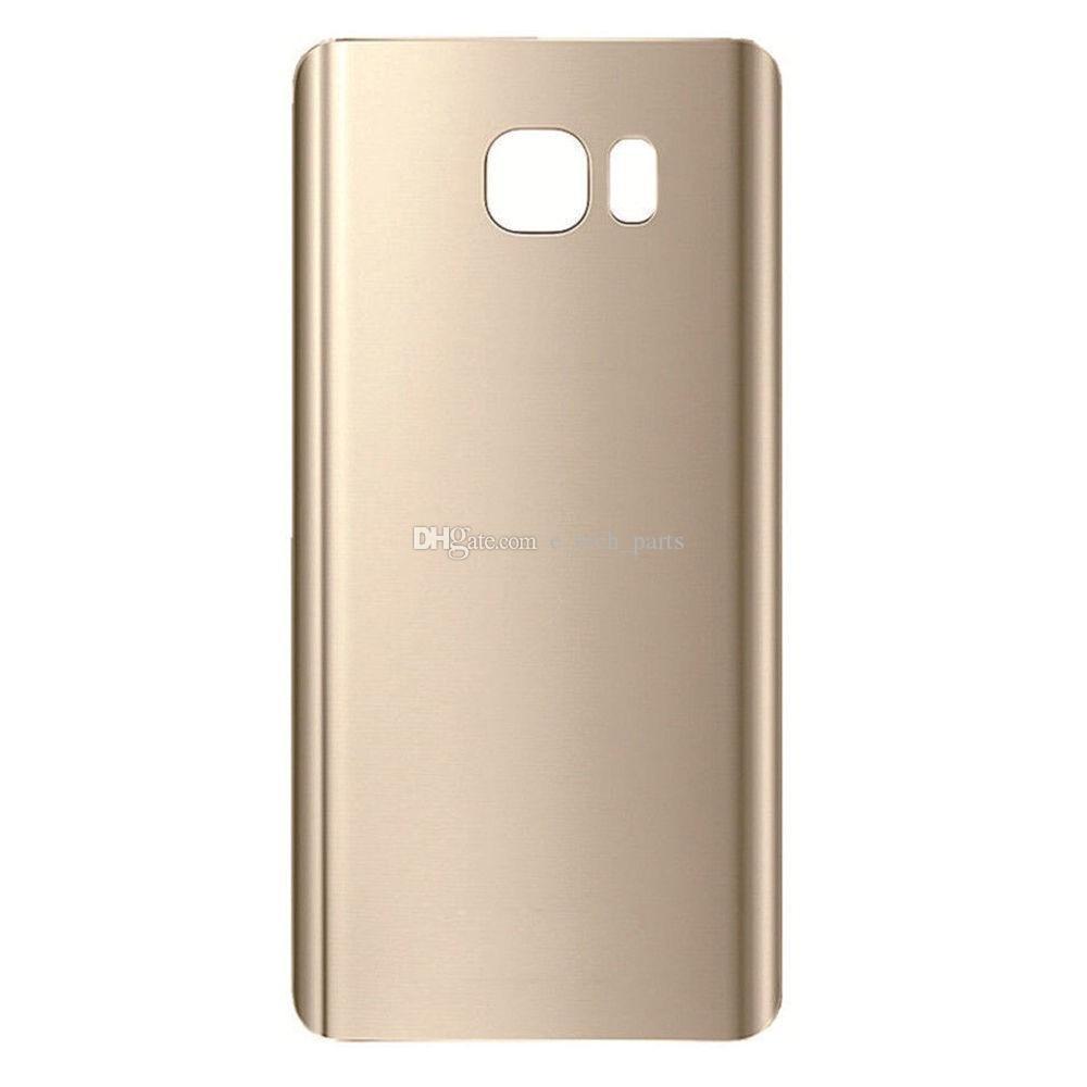 OEM Pil Kapı Arka Kapak Cam Konut + Yapışkan Sticker Samsung Galaxy Not Için 5 N9200 N920V N920F VS N920T N920P 60 adet / grup DHL
