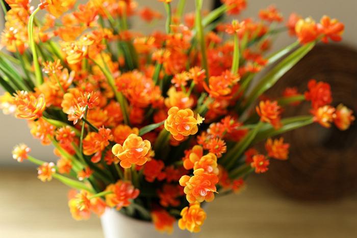 Commercio all'ingrosso artificiale emulational oriental cherry o Sakura 63heads mazzi di fiori la casa giardino Decorazioni di nozze piante di fiori finti