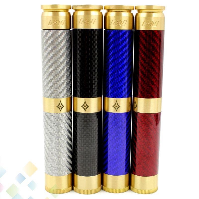 AV Long Carbon Fiber Able Mechanical Mod E Cigarette fit Two 18650 Battery Fit 510 Atomizer Double Mech Mod DHL Free
