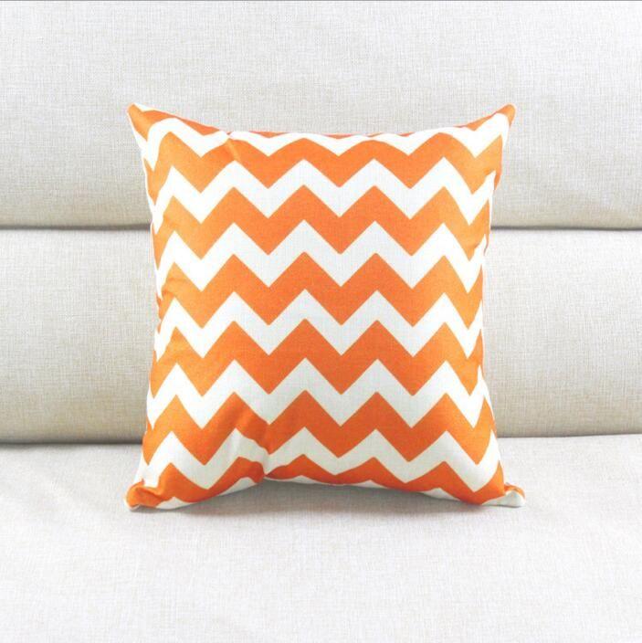 Chevron Cushion Case Chevron Wave Printed Cushion Cases Fashion Mediterranean Style Pillow Covers Home Textiles Decor Pillow Case