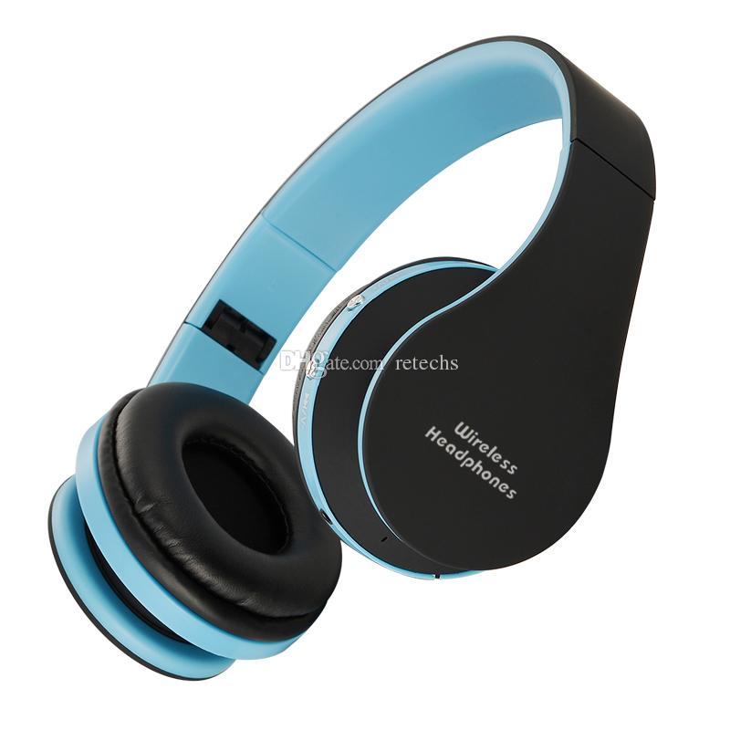 소매 포장 블루투스 V3.0 + EDR을 실행 NX-8252 전문 접이식 무선 헤드폰 슈퍼 효과 스테레오베이스 헤드셋 스포츠