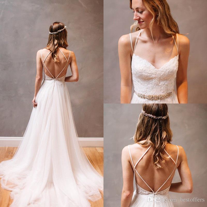 Discount Sexy Summer Beach Boho Wedding Dresses 2017 Criss