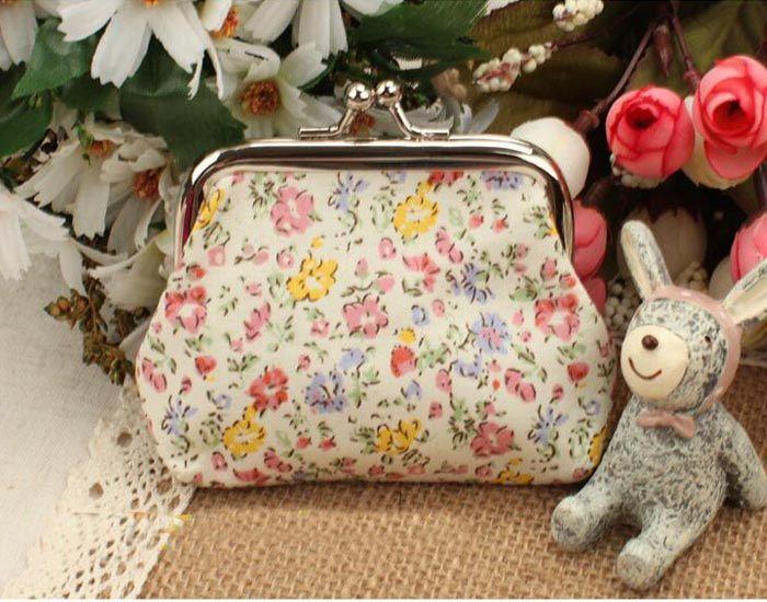 Flower Floral Hasp Coin Purse Kids Girls Mini Purses Women Ladies Wallets Money Bag Children Party Christmas Gifts