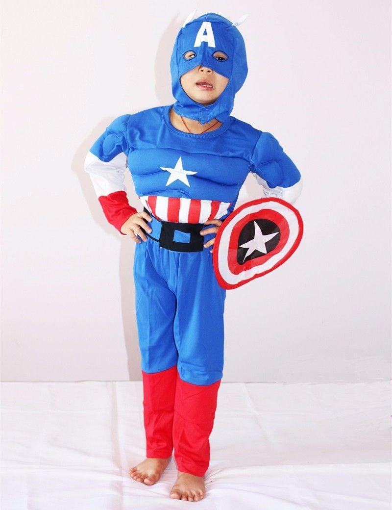Best Superhero Muscle Cosplay Iron Man Hulk Captain America Spiderman Flash Batman Superman Robin Children Halloween Christmas Costume Clothes Under $51.26 ... & Best Superhero Muscle Cosplay Iron Man Hulk Captain America ...