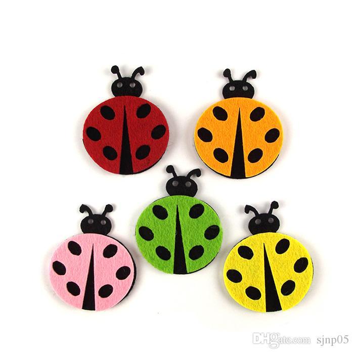 Cute Animals Beetle Butterflies Snail Bird Wool Felt Nonwoven 3d