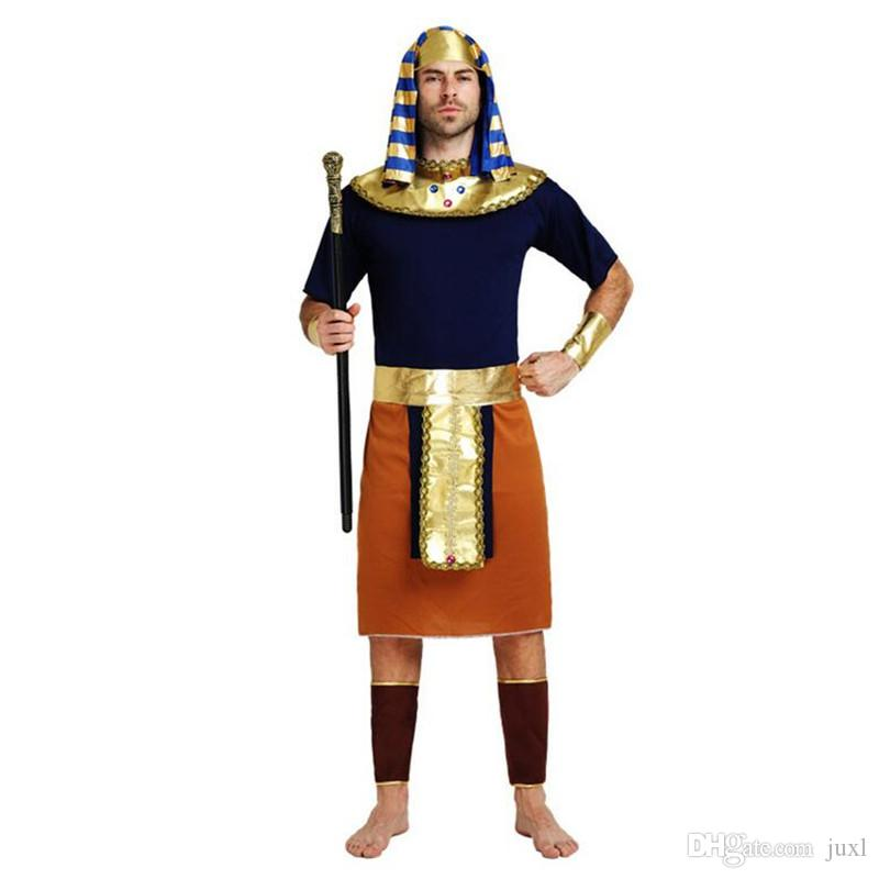 Adults Ancient Egypt Costume King Queen Pharaoh Costume For Men Gold