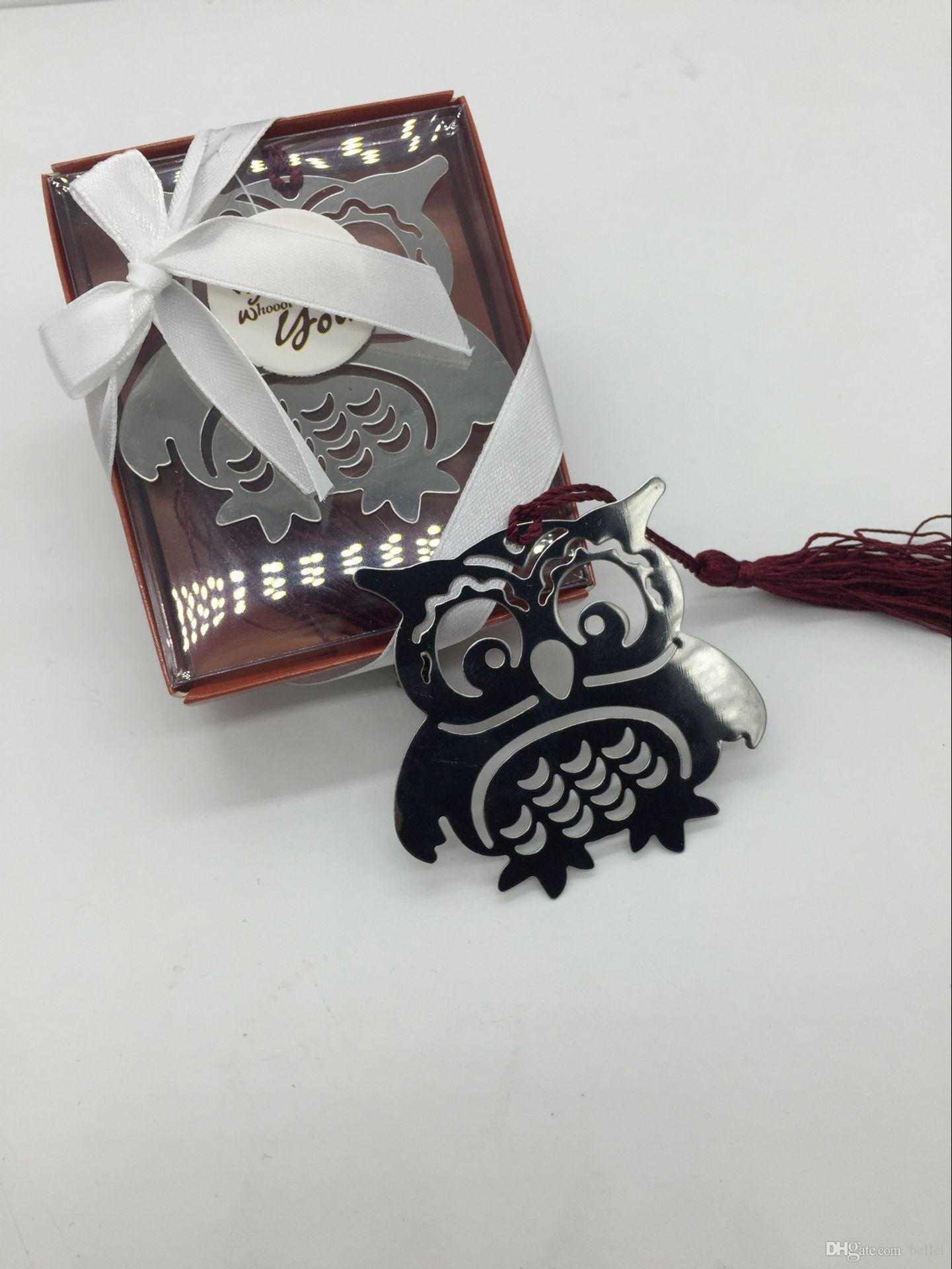 Factory Outlet Metal Owl Bookmark Wedding Favors And Gifts Wedding ...