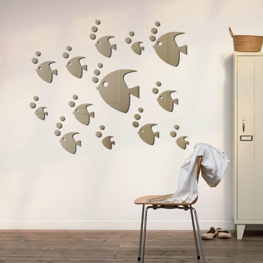 decor fashion animal sea tropical fish sticker acrylic mirror decor fashion animal sea tropical fish sticker acrylic mirror sticker poster diy home decoration kids rooms decoration accessories reusable wall decals