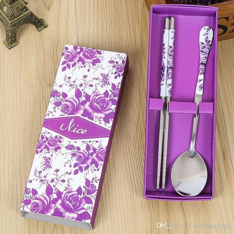 Набор посуды китайский стиль из нержавеющей стали посуда костюм подарочная коробка для свадьбы главная ресторан бесплатная доставка ZA3803