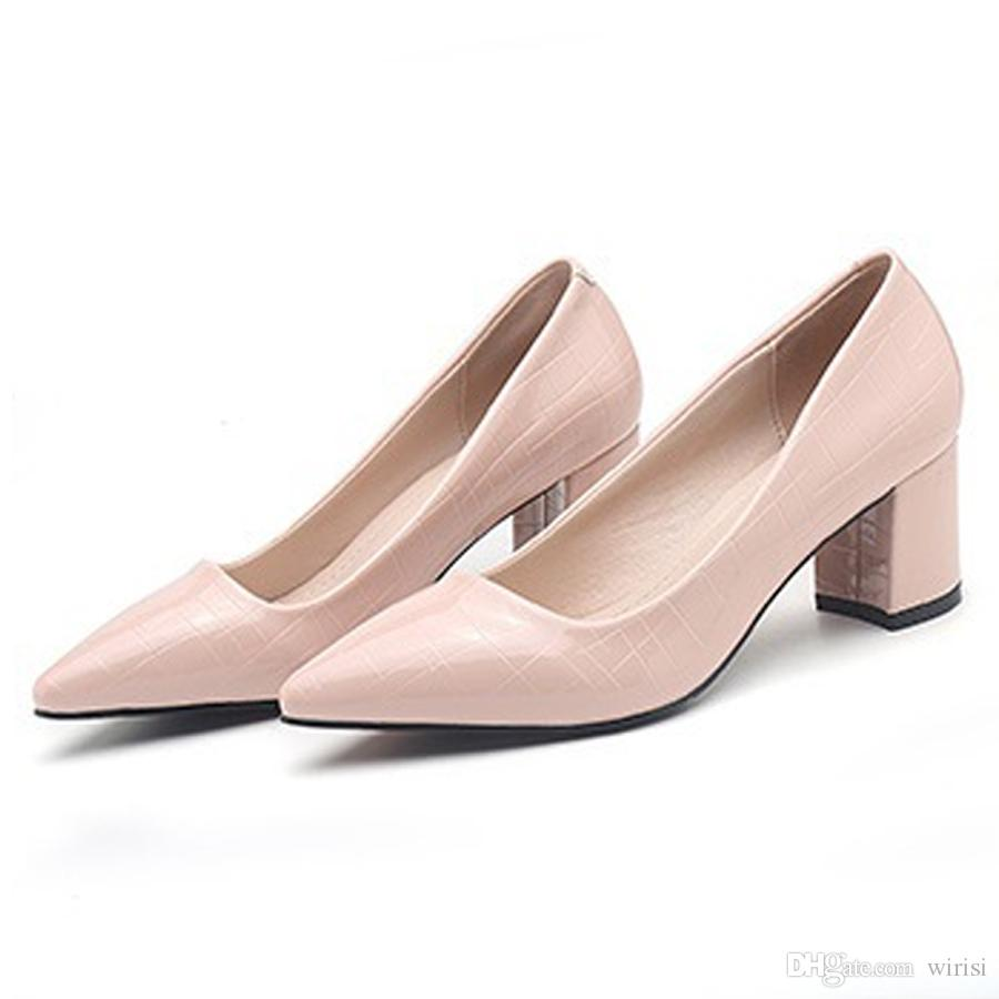 New Sexy Ladies Fashion PU Shoes Pumps Womens Cheap Heels Online Sale Discount Women's Footwear Online Shopping Girl Buy Shoes Free Shipping