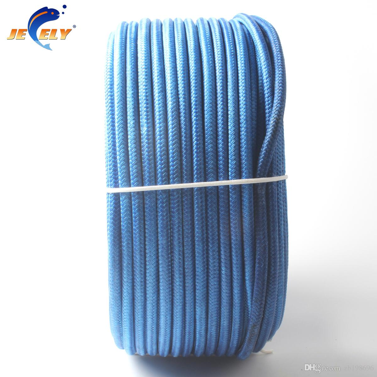 50M 1.4mm Spectra Towing Winch Rope Polyester Sleeve 16 Strands ...
