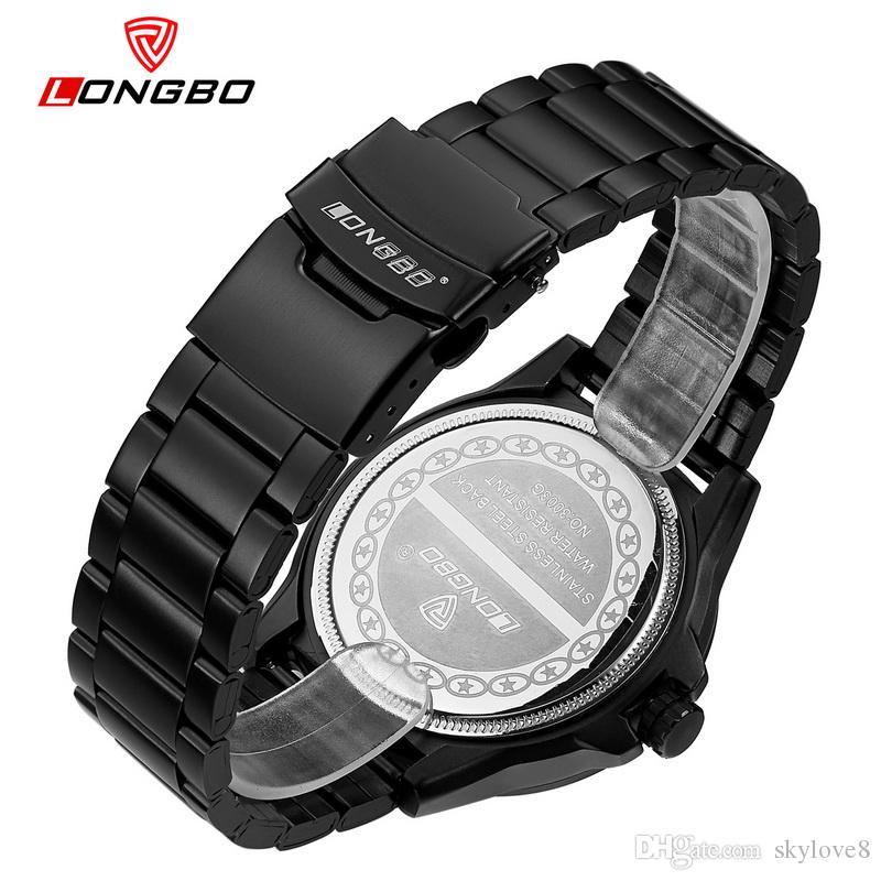 skylove8 бренд магазины LONGBO Мужские спортивные бизнес роскошные досуг пояса часы мужские водонепроницаемые кварцевые часы студенты часы