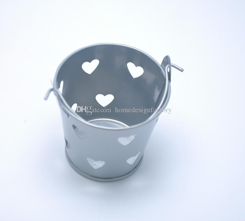 6 * 6cm مصغرة لطيف حلوى الشوكولاته دلاء برميل دلاء دلو صناديق حفل زفاف تفضل