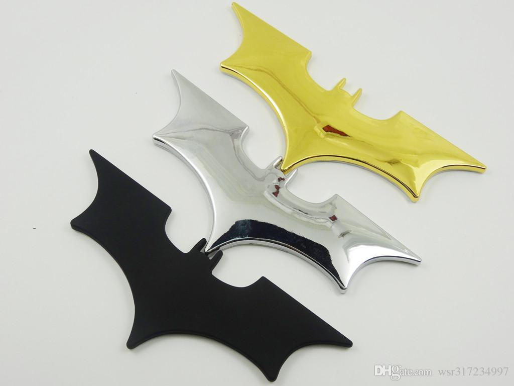 5 PÇS / LOTE Car styling 3D Legal Metal Bat Auto Logotipo Do Carro Adesivos de Metal Emblema Batman Emblema Cauda Decalque Da Motocicleta veículos Acessórios Do Carro
