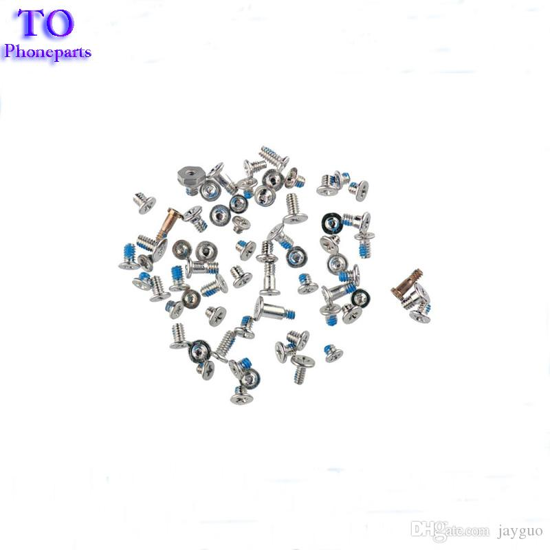 Wholesale 100Set New Full Screws Set With 2pcs Bottom Screws For iPhone 5 5s 5c 6 Plus 6s 7 Plus Replacement Parts