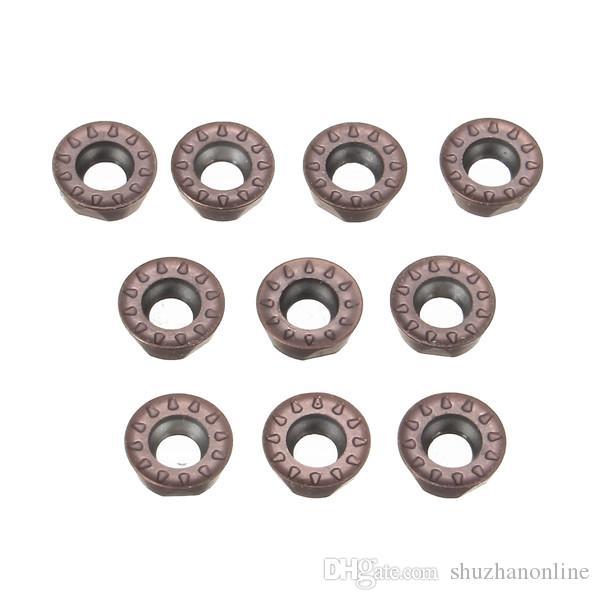 10 unids RPMT08T2M0E-JS VP15TF Insertos de carburo Fresa de corte CNC Hoja