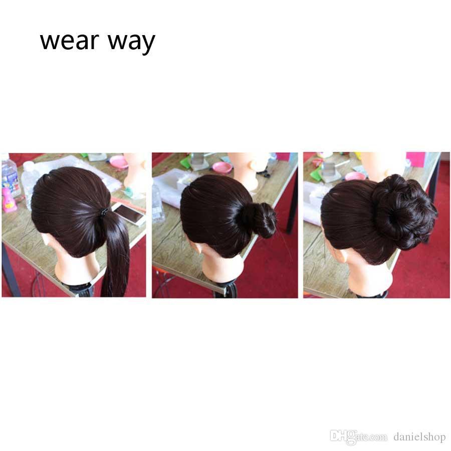 Moda Kadınlar Yakaladı Çiçek Tomurcukları Gelin Plaka Yapılan Gerçek Saç Topları Kafa Saç Gerçekten Dokuz Çiçekler