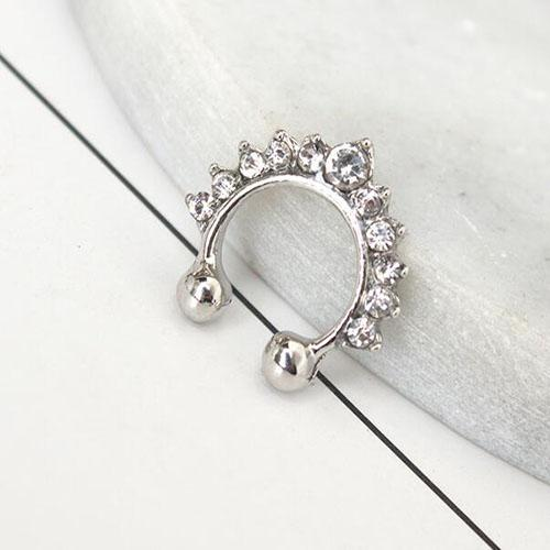 Boniskiss Fake Nose Ring Studs Stainless Steel Body Jewelry