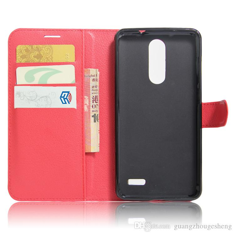 top quality various color flip cover pu leather case for zte grand x 4 x4 z956