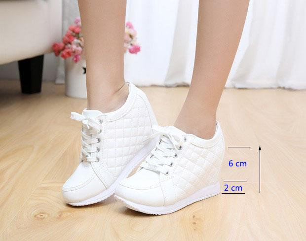 84fb32b06bb Fashion High Heel Sneakers Increased 8CM High Heels White Shoes Breathable  Casual Shoes For Women And Girls Loafers Mens Boots From First outstanding