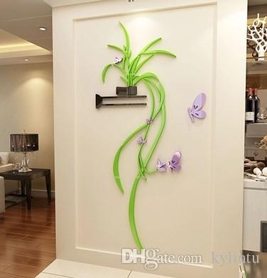 Chlorophytum 3d Stereo Wall Decal Living Room Sofa Corridor Wall Wallpaper  Warm Bedroom Wall Decoration In The Room Tree Wall Decals Tree Wall Decals  For ...