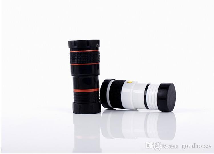 Universal 8x Optical Zoom HD Telescopio Obiettivo Clip iPhone 7 7 plus 6 6s Samsung Note 7 S7 Obiettivo universale telefono cellulare