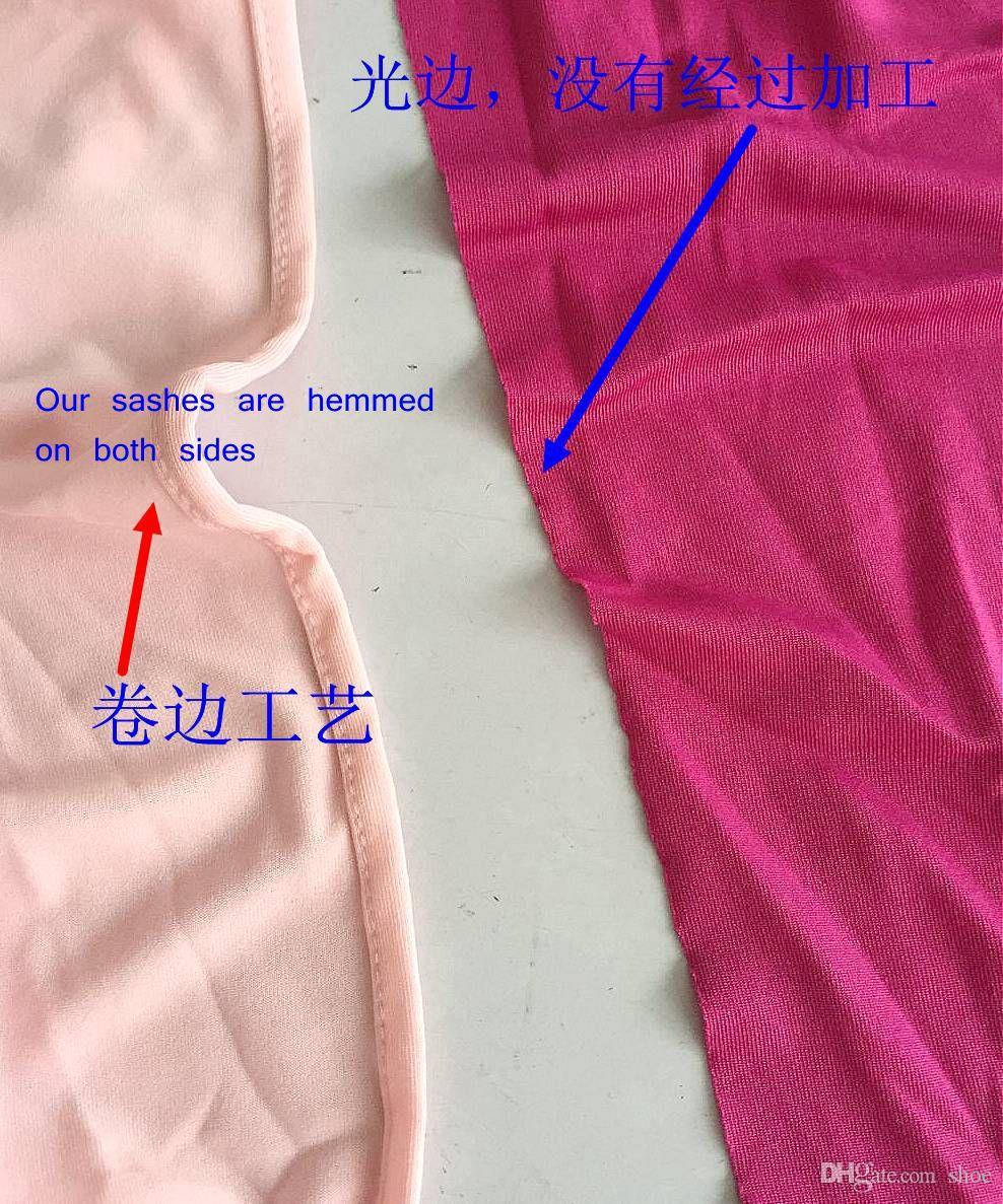 DHLFree choisir des couleurs ourlé spandex lycra chaise bandes chaise élastique ceinture de chaise bande avec boucle de mariage plus de 60 couleurs disponibles