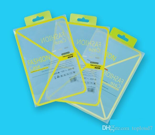 Empty Yellow PVC Plastic Retail Package Packaging box boxes for 7.9 iPad mini 1 2 3 4 PU Leather Case OEM Design