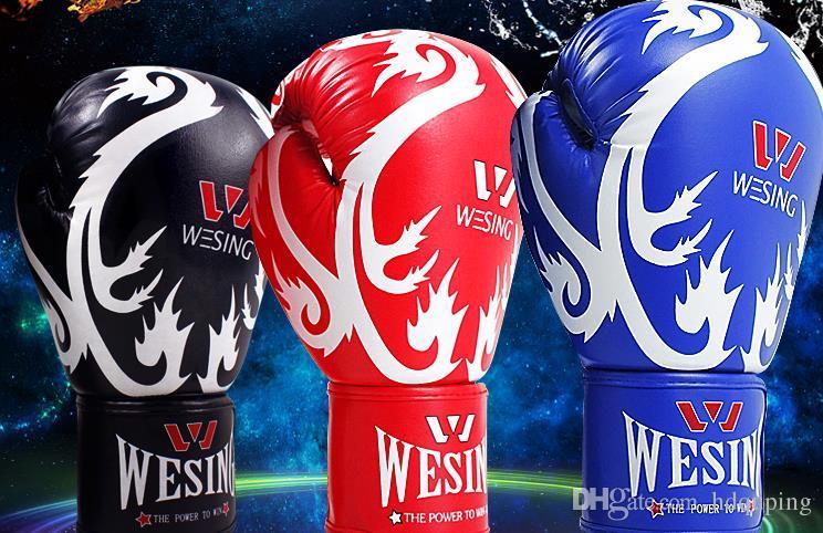 Wesing Schwarz Rot Blau 10Oz Grant Boxhandschuhe Boxzubehör Mma Kick Boxhandschuhe Sandsackhandschuhe Ausrüstung Fitness Trainingszubehör