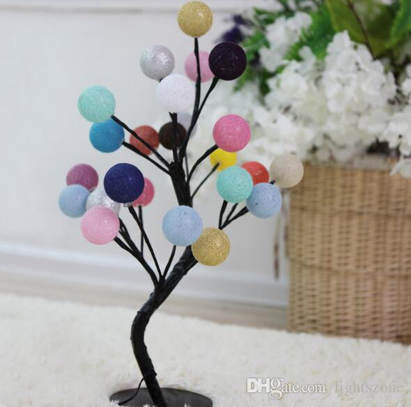Cotton Ball lights string Christmas Indoor Led String Lights New Year Garden Party Decoration Ornaments Wedding