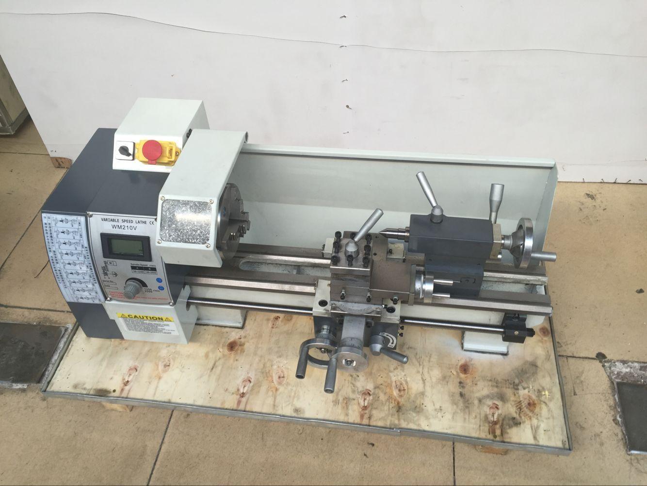Newest 850w Variable Speed Mini Metal Lathe Machine Wm210v 38 Small