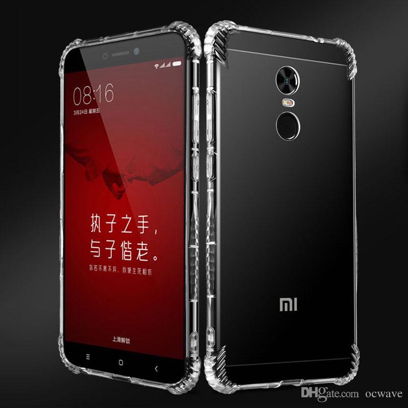 best website 2ebd3 222da OCWAVE souple Cas pour Xiaomi Redmi note 4 note 4X transparent transparent  couvre silicone TPU matériel 1.2mm épaisseur plus lourd antichoc ...