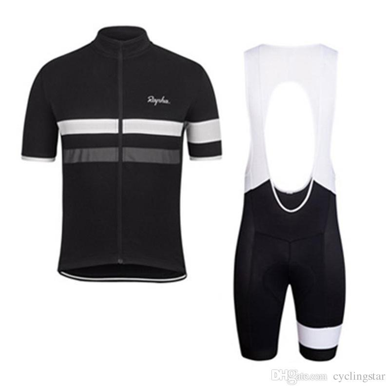 2017 Rapha yeni yaz dağ bisikleti kısa kollu bisiklet jersey kiti nefes çabuk kuru erkekler ve kadınlar sürme gömlek bib / şort set K2502
