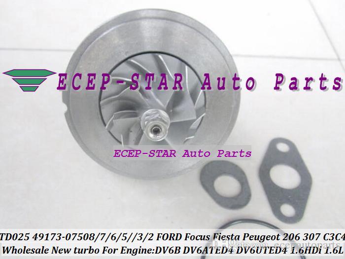 TD025 CHRA TURBO for PEUGEOT 1.6 HDi 75 90 92 49173-07507 Turbocharger CORE New