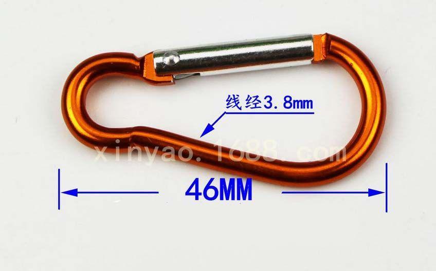 De haute qualité en alliage d'aluminium Alpinisme Boucle de sécurité Escalade Boucle Outdoor Hanging Bouteille d'eau Porte-clés petits objets Boucle