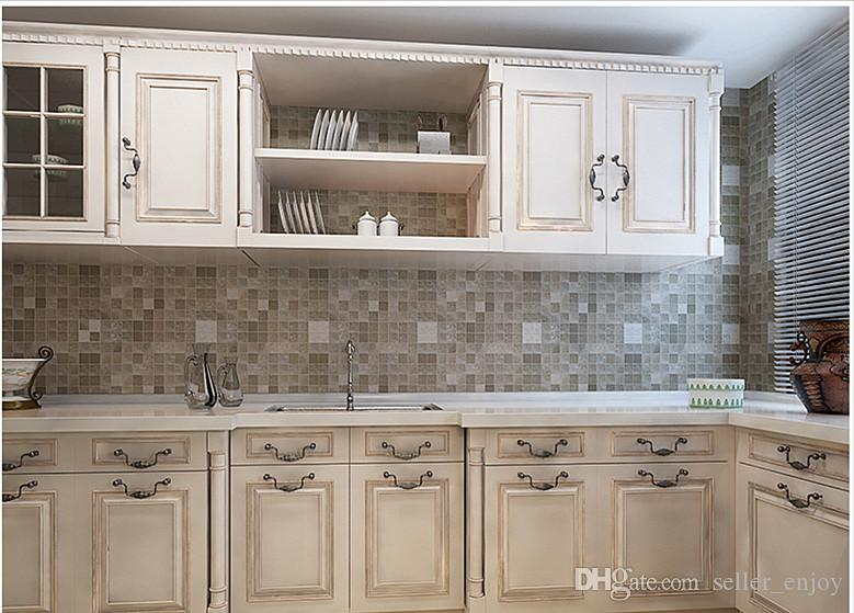 Kitchen Tiles On A Roll kitchen wall sticker pvc mosaic tile wallpaper bathroom walls