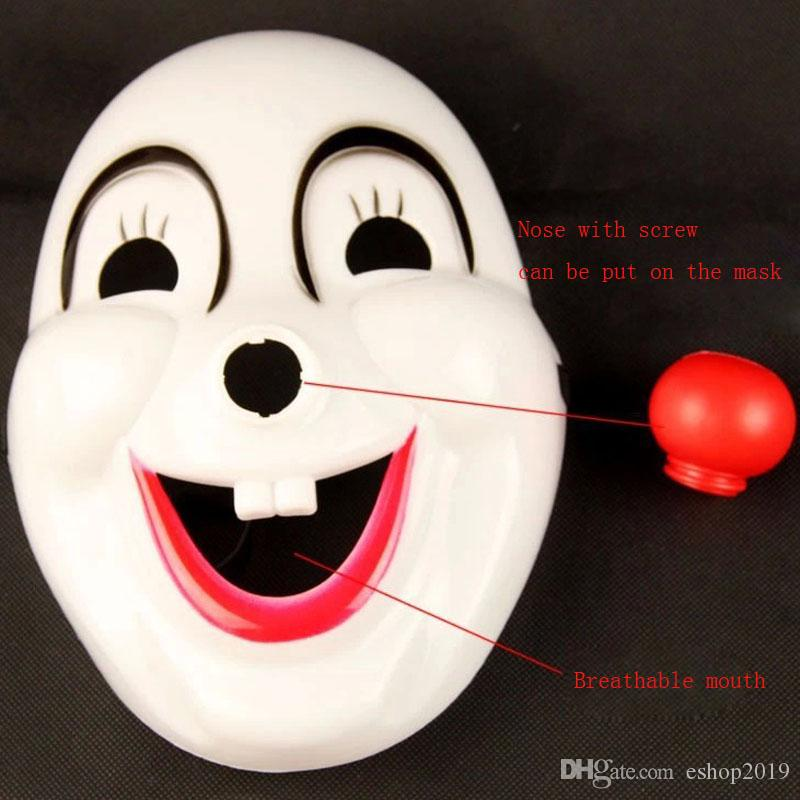 2017 new Classics Red Nose Clown Mask Jolly Mask Jester Mask for Party Halloween