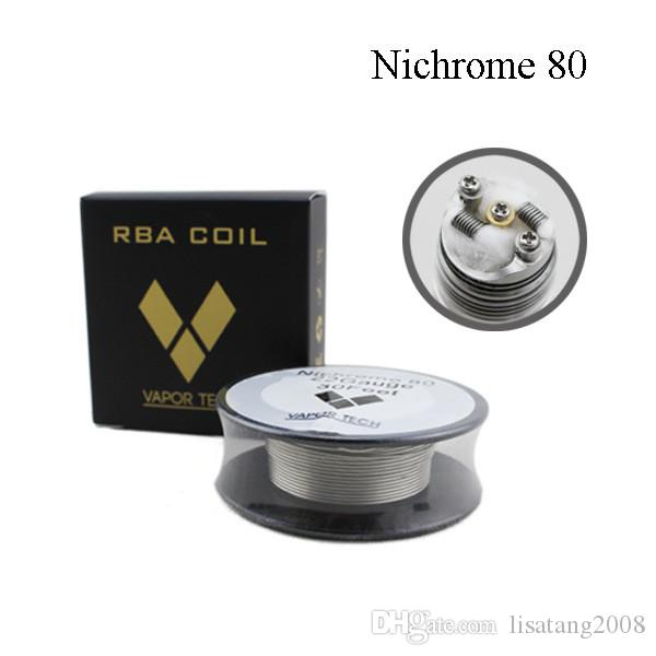 Vapor Tech Nichrome 80 Wire Heating Resistance Coil 30Feet Spool AWG 22 24 26 28 30 32 Gauge for RDA Atomizer DHL Free