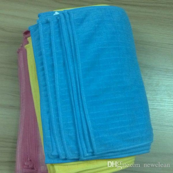 Microfiber Cleaning Cloth Microfibre Kitchen Towels Wiping Dust Rags Magic Towel 24*32CM Classic Grid Towels