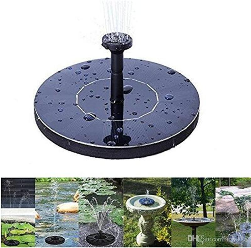 New solar Water Pump Power Panel Fountain Kit Fountain Pool Garden Pond Submersible Watering Display auto-spring with English Manaul
