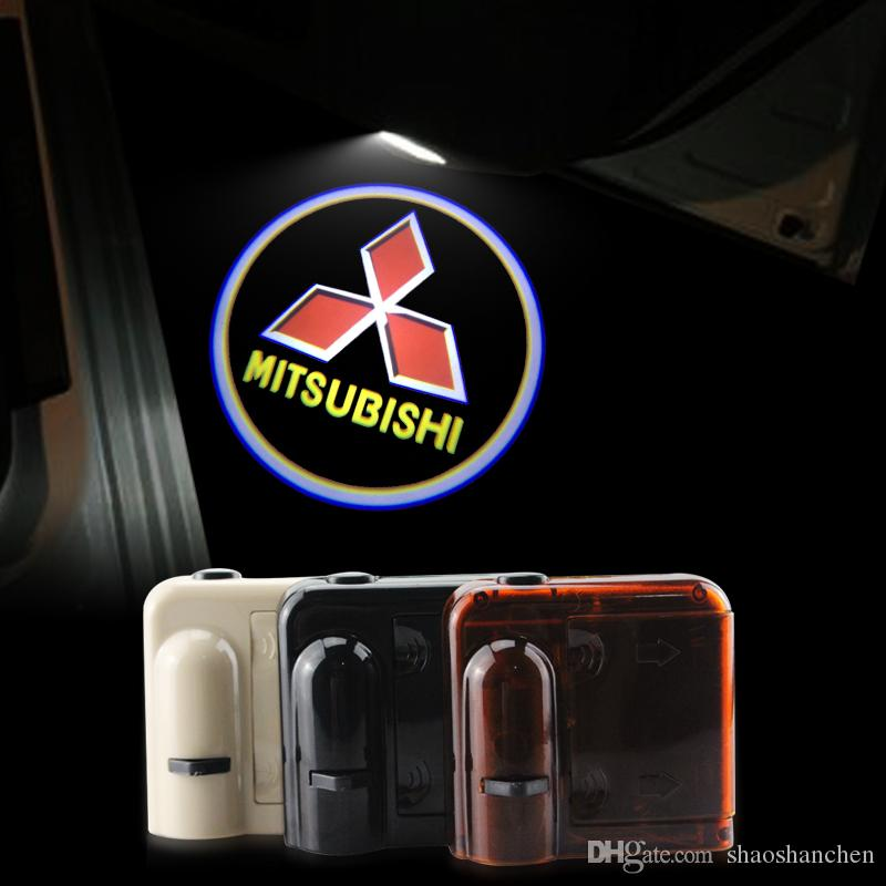 2018 2x Car Door Lights Logo Ghost Shadow For Mitsubishi Led Welcome