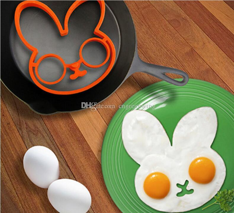 2017 Cooked Fried Egg Skull Owl Rabbit Shaper Silicone Moulds Egg ...