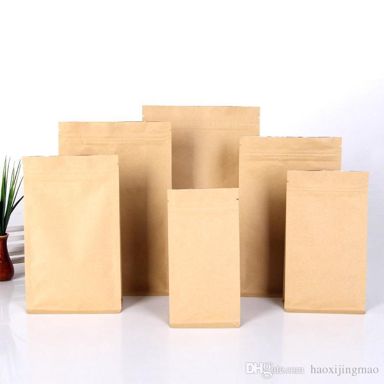 Leak Sealing Kraft Bag : Tea kraft paper bag self sealing food