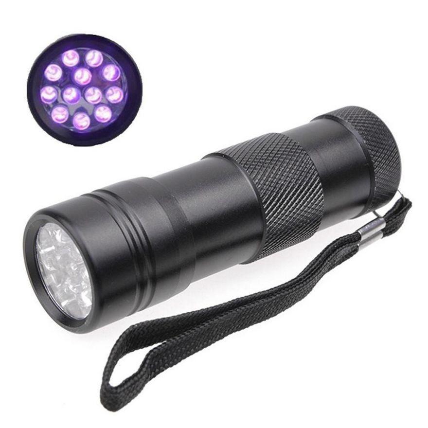 Flashlights & Torches 395-400nm 12 Led 1-mode Purple Light Led Flashlight Uv Light Led Lamp Torch 3* Aaa