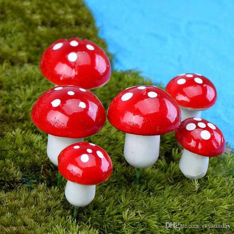 미니 버섯 시뮬레이션 다채로운 거품 버섯 DIY 공예 재료 이끼 Terrarium 마이크로 조경 식물 냄비 장식품 Fairy Garden Desktop