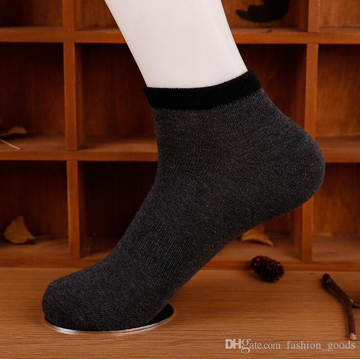 High quality Spring and summer men's pure color waist boat socks sweat deodorant sports casual wild socks NW007