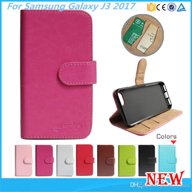leather phone case for samsung galaxy j3 2017