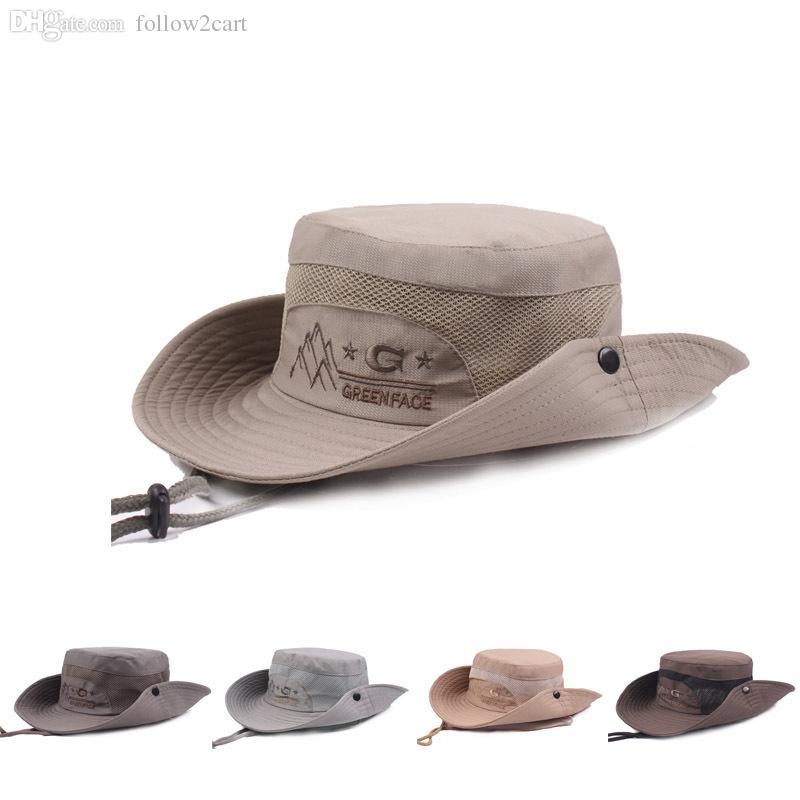 2017 Korean Style Fishermans Hats Summer Foldable Caps For Mens ... 4efe3f85e592