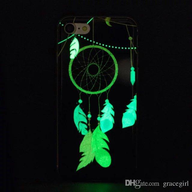 Glow In dark Bling Flower Owl TPU Soft Case For Iphone X XS MAX XR 7 8 PLUS 6 6S SE 5 5S 5C Luminous Skull Butterfly Dreamcatcher Skin Cover