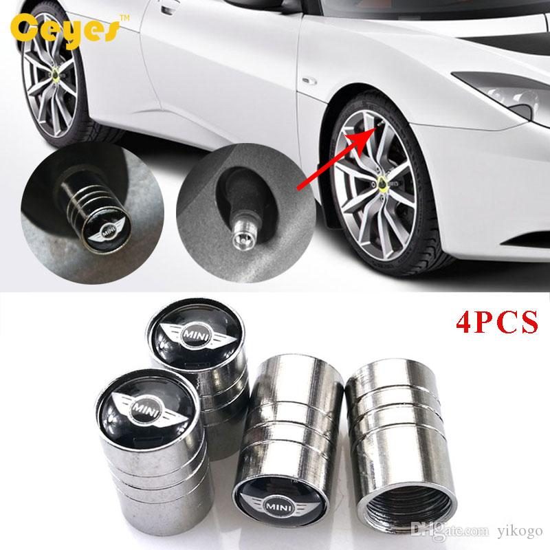 Car Accessories Wheel Tire Valves Tyre Stem Air Caps Cover case For bmw mini copper Car Emblems Badges Car Styling